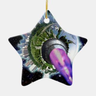 Alienate Treason! Restore the 2nd Amendment! Ceramic Star Decoration