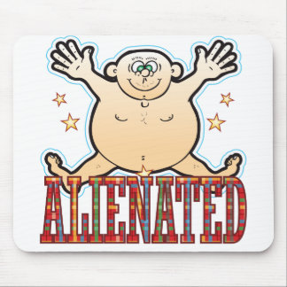 Alienated Fat Man Mouse Mat