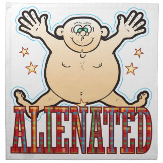 Alienated Fat Man Napkin