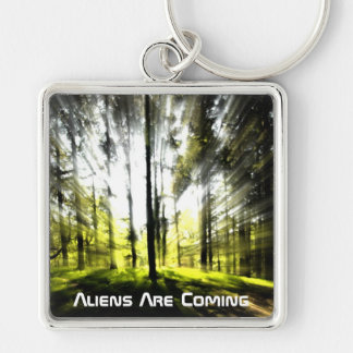 Aliens are coming key ring