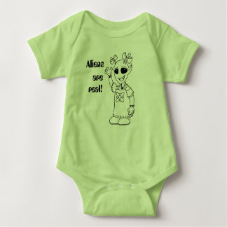 """Aliens Are Real!"" Baby Bodysuit"
