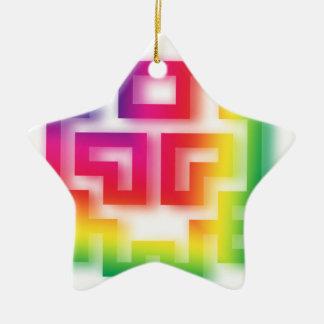 Aliens' aren't Gray - they're Rainbow ! Ceramic Star Decoration