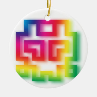 Aliens' aren't Gray - they're Rainbow ! Christmas Ornament