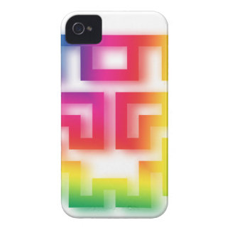 Aliens' aren't Gray - they're Rainbow ! iPhone 4 Cover