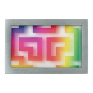 Aliens' aren't Gray - they're Rainbow ! Rectangular Belt Buckle