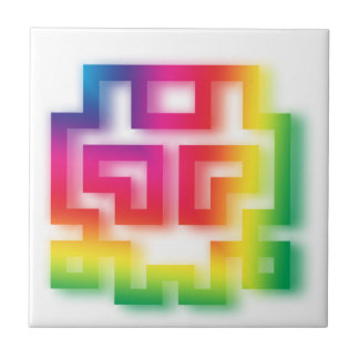 Aliens' aren't Gray - they're Rainbow ! Tile