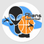 Aliens Basketball Stickers