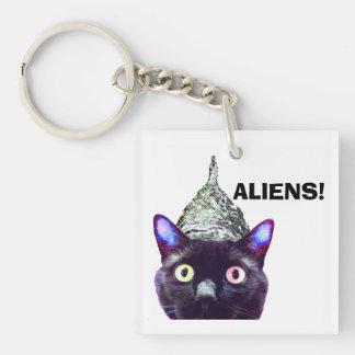 ALIENS! Cat keychain