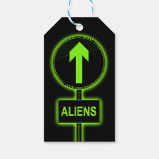 Aliens concept. gift tags