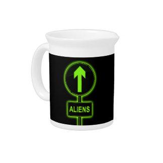 Aliens concept. pitcher