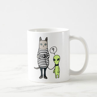 Aliens Conquer Us, Cats Conquer Aliens Mugs