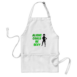 Aliens Could Be Sexy Adult Apron