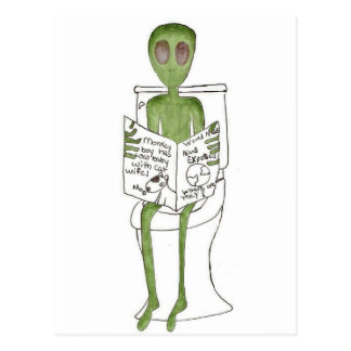 Aliens Exposed Postcard