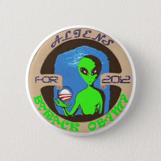Aliens for Obama 6 Cm Round Badge