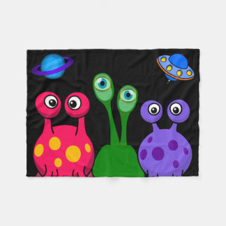 Aliens From Outer Space Fleece Blanket