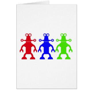 Aliens Greeting Card