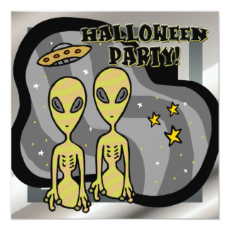 Aliens Halloween Party Invitation