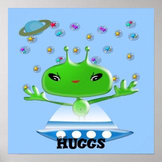 Aliens Huggs Posters