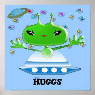Aliens Huggs Print