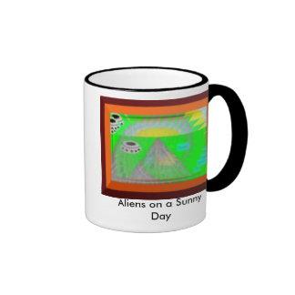 Aliens on a Sunny Day Mug