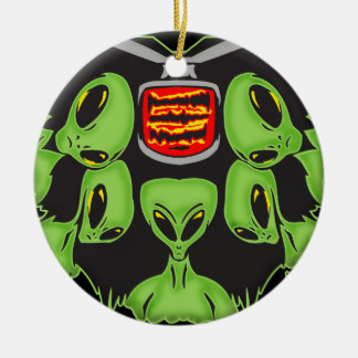 Aliens Probing Your Body Christmas Ornament
