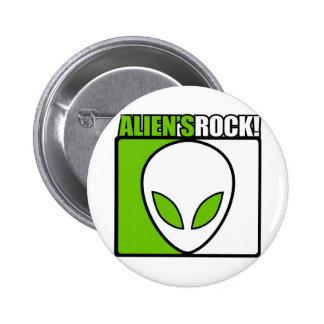 Aliens Rock! 6 Cm Round Badge