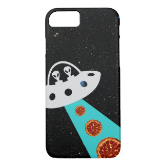 Aliens UFO Abducting Pizza Hipster Galaxy iPhone 7 Case