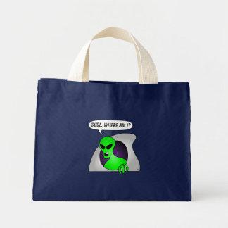 Aliens & UFO Cards & Aprons Mini Tote Bag