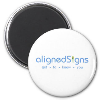 Aligned Signs 6 Cm Round Magnet