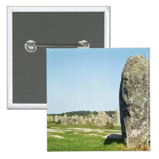 Alignment of standing stones, Megalithic 15 Cm Square Badge
