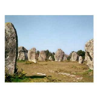 Alignment of standing stones, Megalithic Postcard