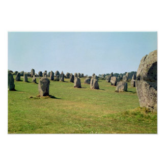 Alignment of standing stones, Megalithic Poster