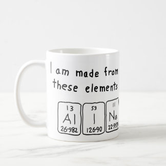 Alina periodic table name mug
