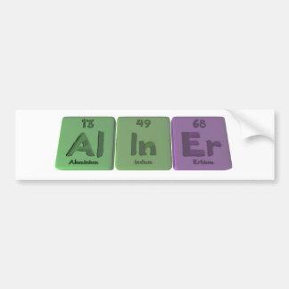 Aliner-Al-In-Er-Aluminium-Indium-Erbium Bumper Sticker