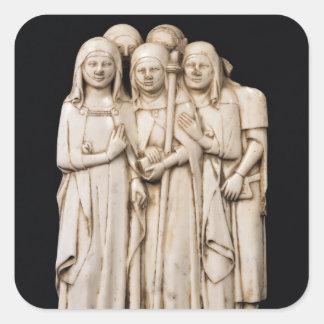 Alinorda, sister of Pope Clement VI Square Sticker