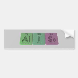 Alise as Aluminium Iodine Selenium Car Bumper Sticker