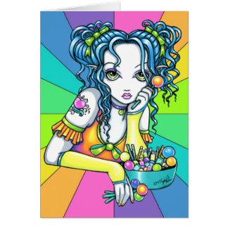"""Alisha"" Candy Rainbow Fae Greeting Card"