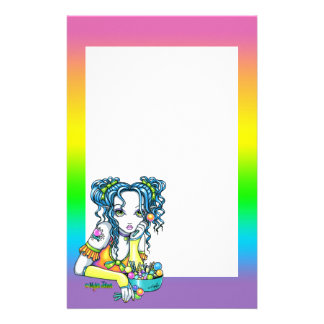 """Alisha"" Candy Rainbow Fairy Stationery"