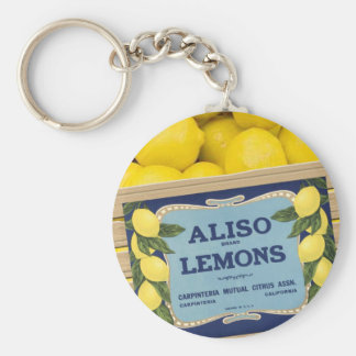 Aliso Lemons in a Crate Basic Round Button Key Ring