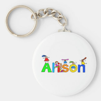 Alison Basic Round Button Key Ring