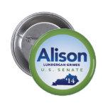 Alison Lundergan Grimes for U.S. Senate 2014 Pins