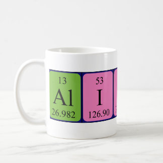 Alison periodic table name mug