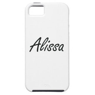 Alissa artistic Name Design Tough iPhone 5 Case