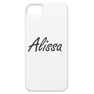 Alissa artistic Name Design Barely There iPhone 5 Case