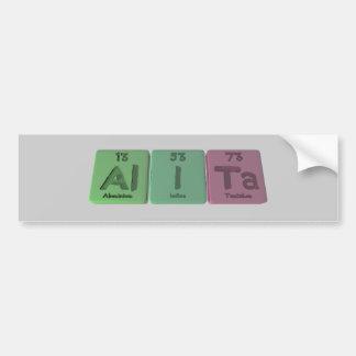 Alita as Aluminium Iodine Tantalum Bumper Stickers
