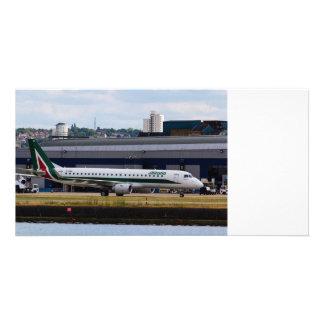 Alitalia  Embraer ERJ-190 London City Airport Personalised Photo Card