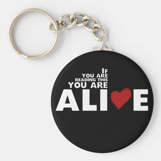 ALIVE Campaign Basic Round Button Key Ring