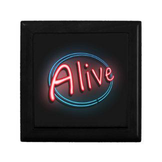 Alive concept. gift box