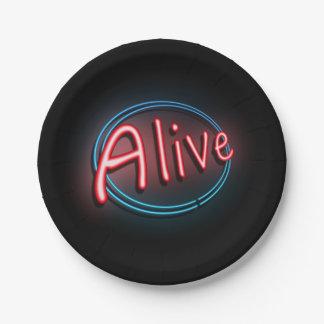 Alive concept. paper plate
