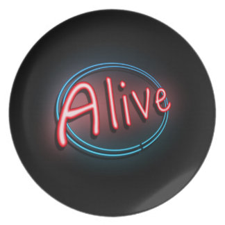 Alive concept. plate
